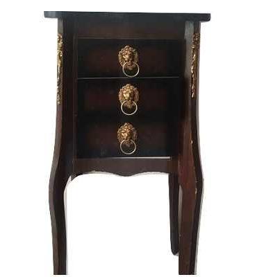 خرید میز تلفن چوب طرح 3 کشویی مدل205315