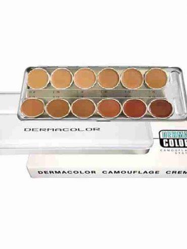 مشخصات,قیمت و خرید پالت 12 رنگ درماکالر ( کاموفلاژ ) کریولان - KRYOLAN
