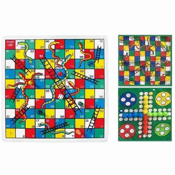 خرید بازی منچ و مارو پله پارچه ای -بازی های چند نفره فروشگاه لردشاپ|lordshop