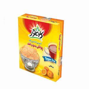 خرید پولکی پرتقالی بدون قند - پولکی کامور فروشگاه لردشاپ|lordshop