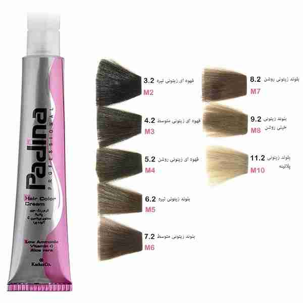 خرید رنگ موی پادینا سری زیتونی - رنگ پادینا سری M فروشگاه اینترنتی لردشاپ|lordshop
